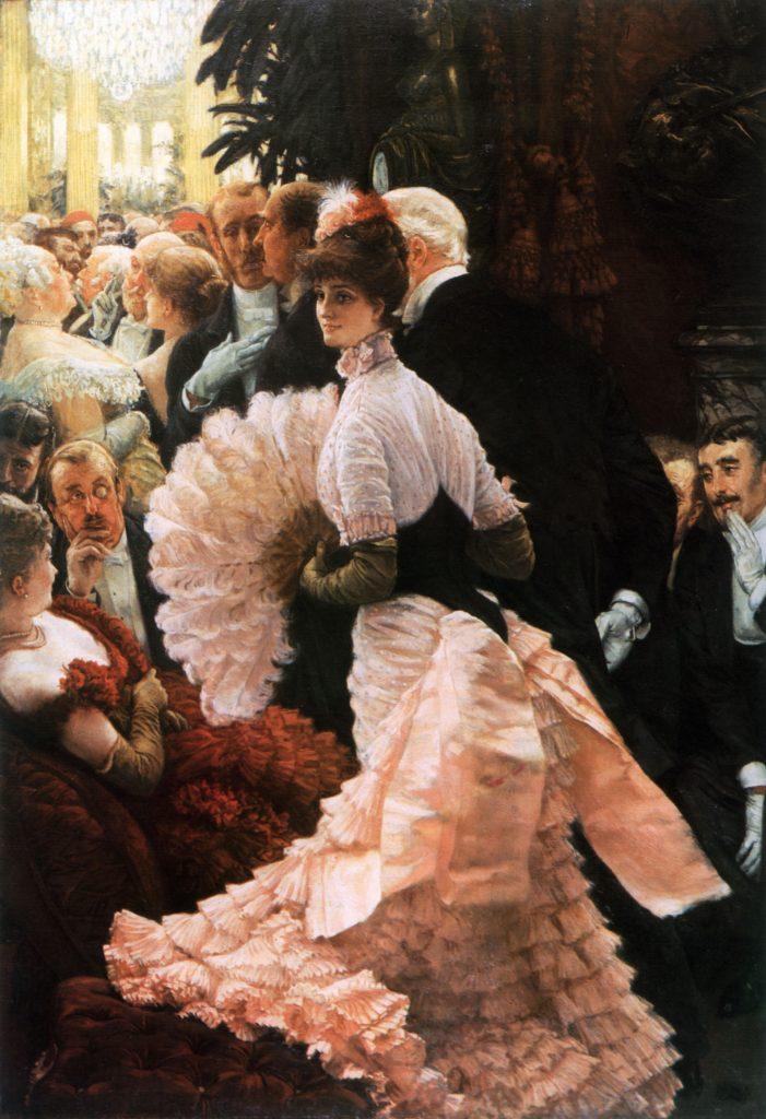 Frou-Frou dress painted by James_Tissot-L'ambitieuse 1883-1885