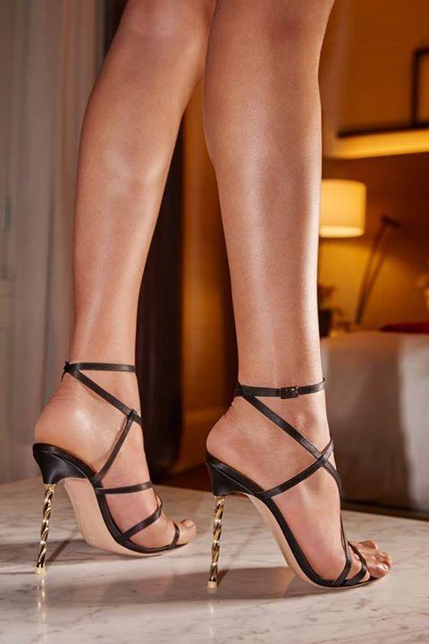 gold heels sandals
