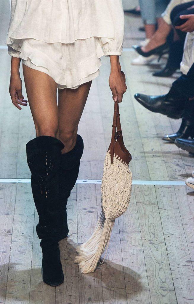geanta crosetata cu piele